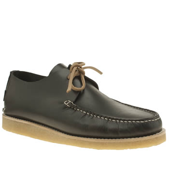 YOGI BLACK LAWSON CREPE TRAPPER SHOES