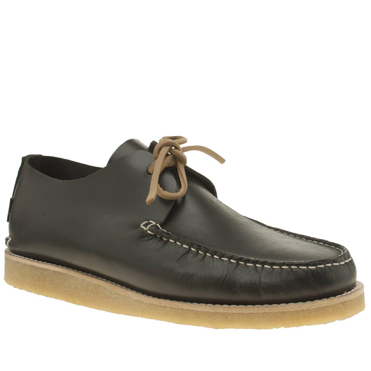 yogi Yogi Black Lawson Crepe Trapper Shoes