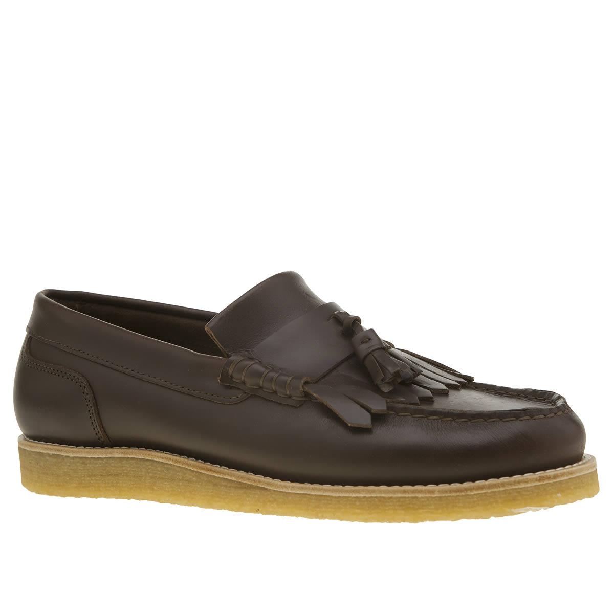 yogi Yogi Dark Brown Ghillie Crepe Shoes