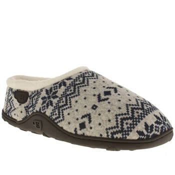 mens homeys grey & navy huskey slippers
