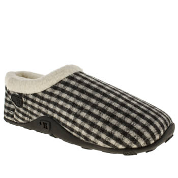 mens homeys black & white miles slippers