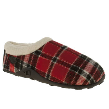 mens homeys black & red chuck slippers
