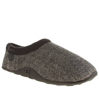 Mens Homeys Grey & Black George Slippers
