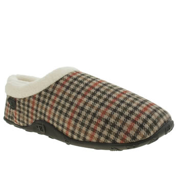 Mens Homeys Stone & Black Rufus Slippers