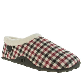 Mens Homeys Navy & Red Henry Slippers