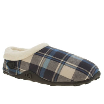 Mens Homeys Navy & White Josh Slippers