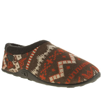 Mens Homeys Brown & Orange Mylo Slippers