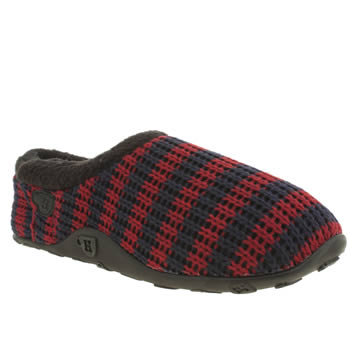 Mens Homeys Navy & Red Suggs Slippers