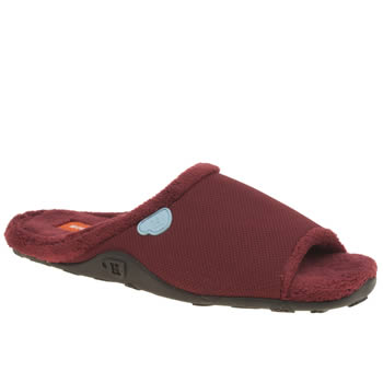 Mens Homeys Burgundy Smooth Slippers