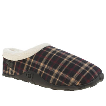 Mens Homeys Navy & White Beck Slippers