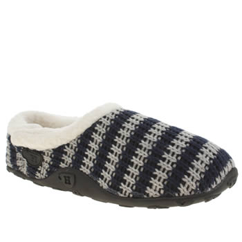 Homeys Navy & Grey Baxter Slippers