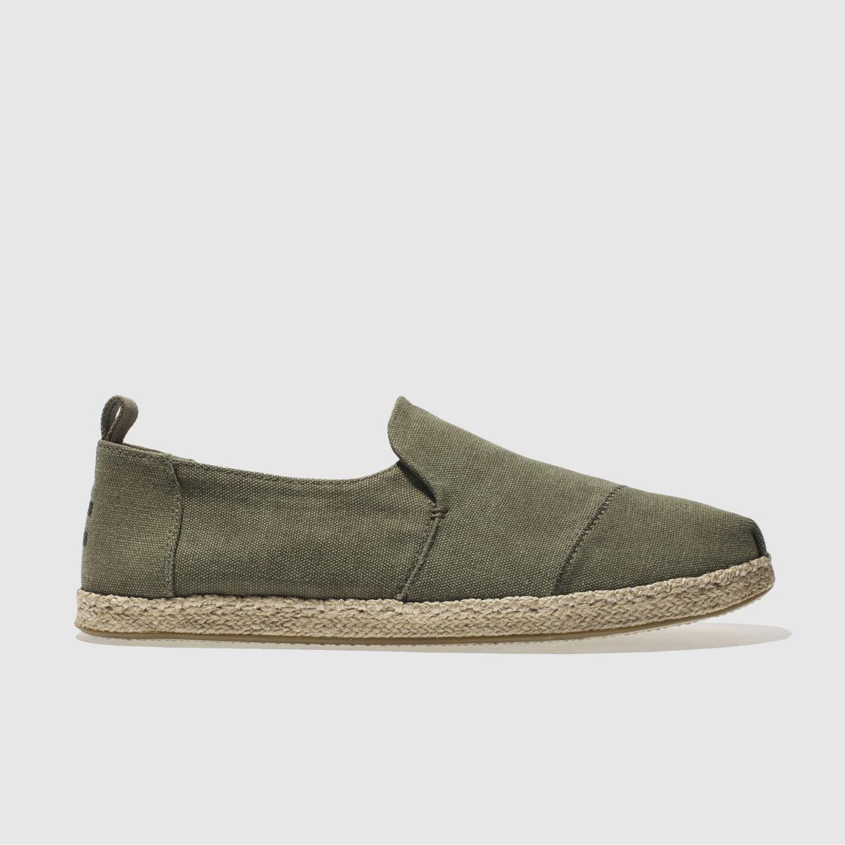 Toms Khaki Deconstructed Alpargata Shoes