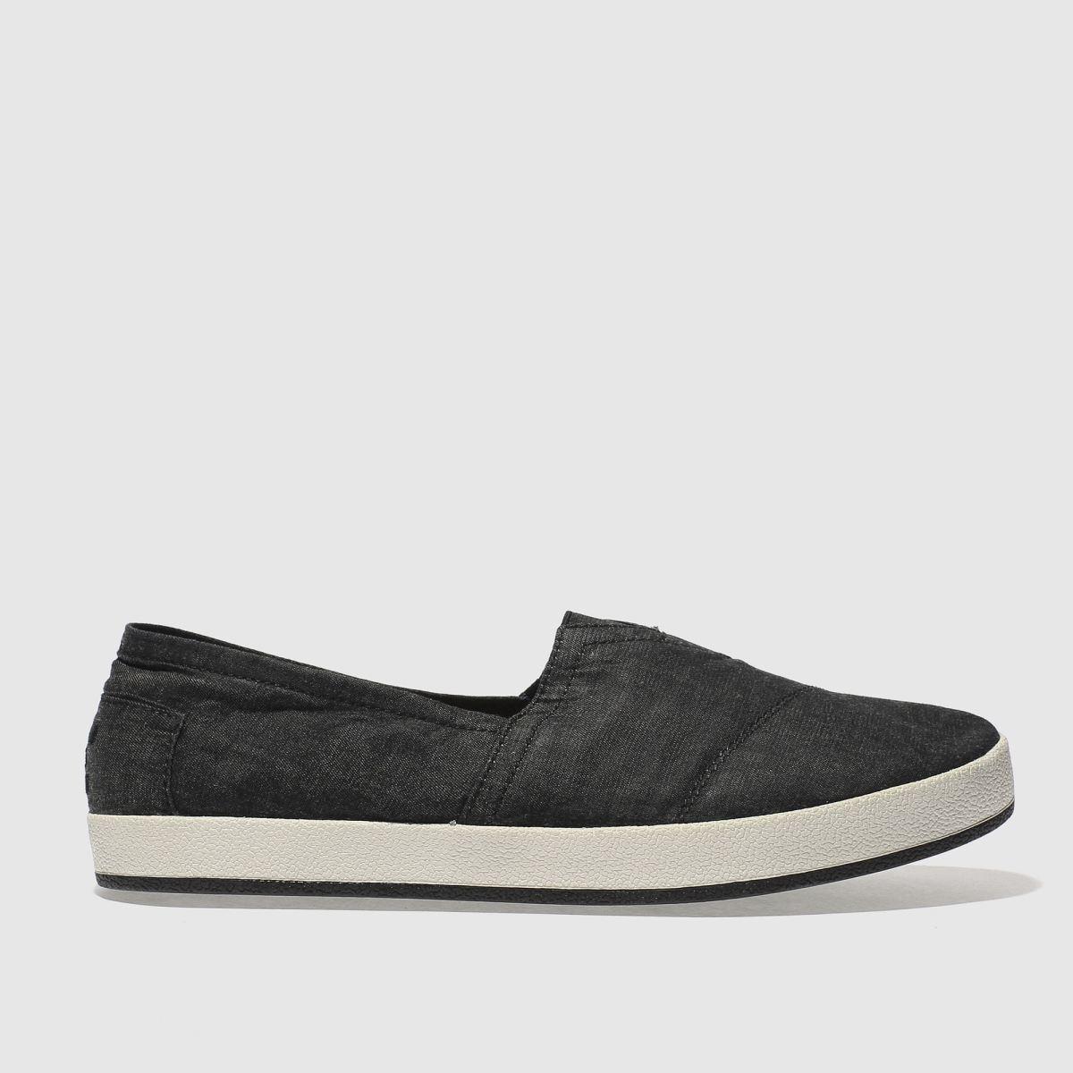 Toms Black & White Avalon Slip-on Shoes