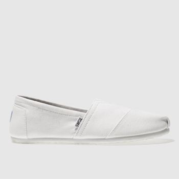 Mens Toms White Seasonal Classic Shoes