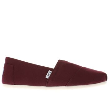 Toms Burgundy Seasonal Classic Shoes