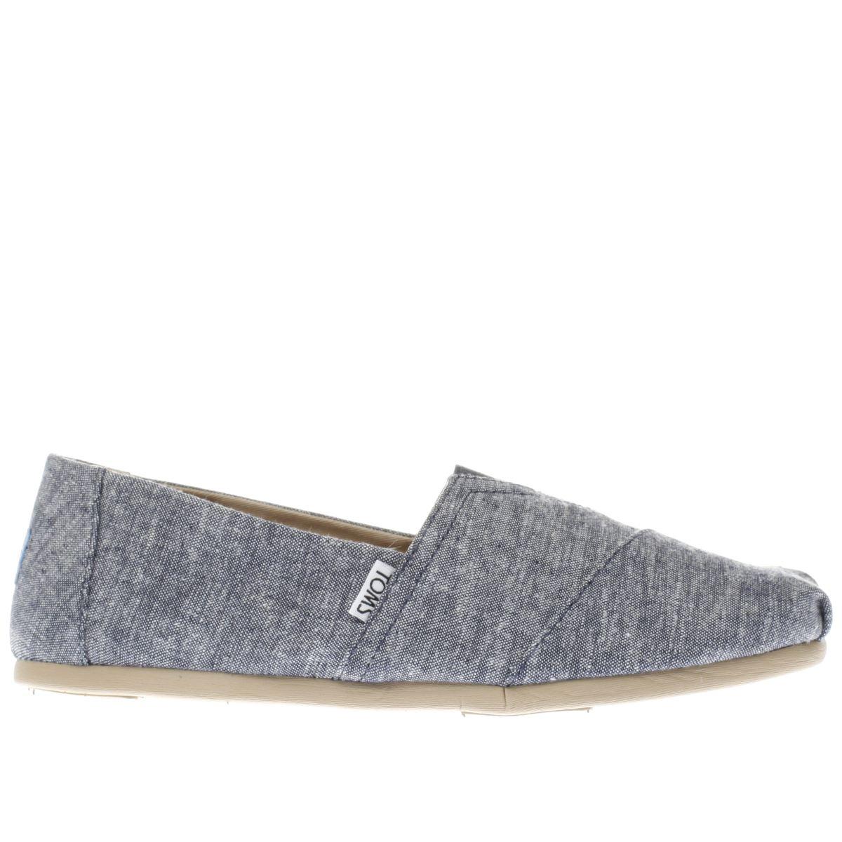 toms blue seasonal classic shoes