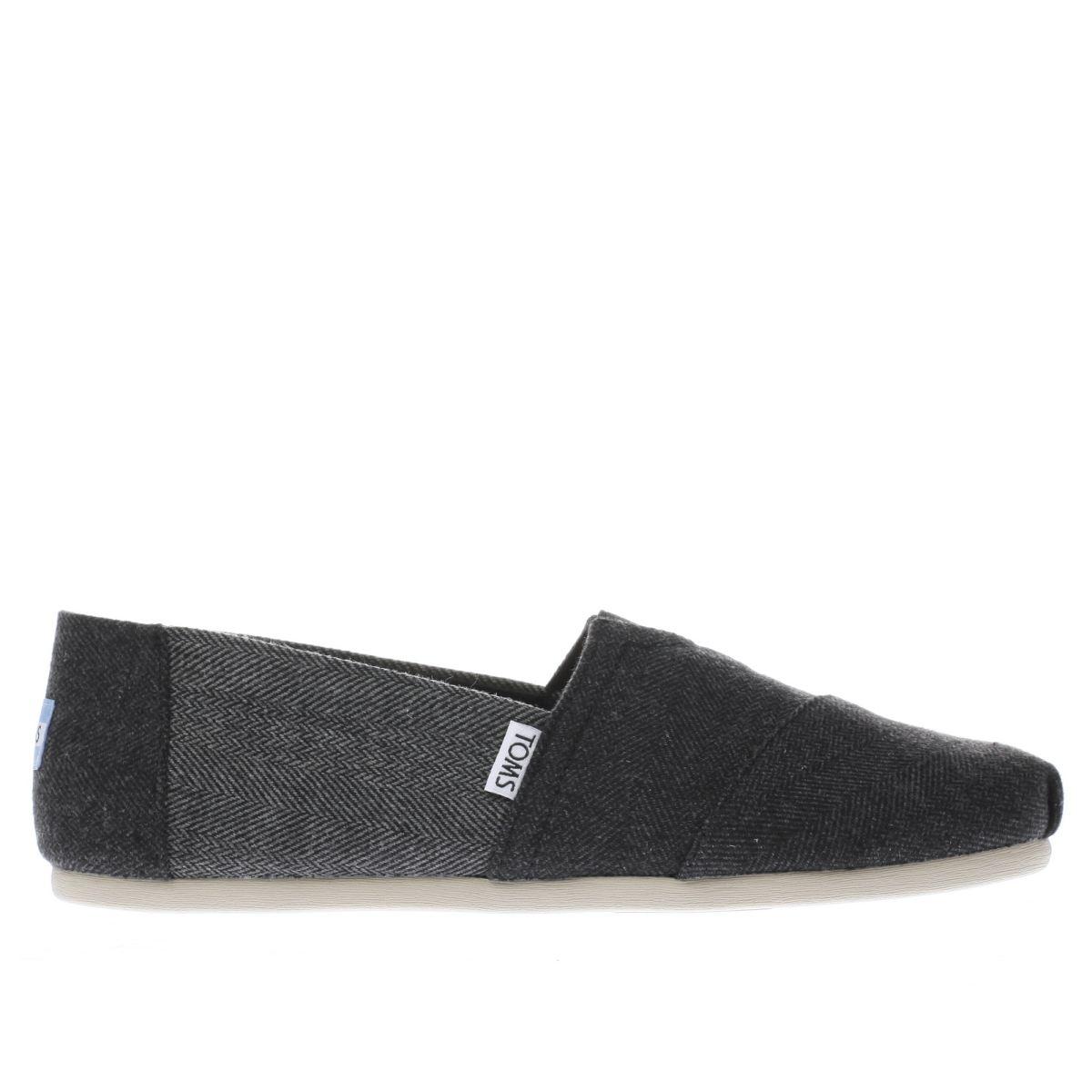 toms black & grey seasonal classic shoes