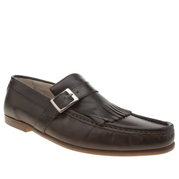 Momentum Dark Brown Rinse Fringe Loafer Shoes