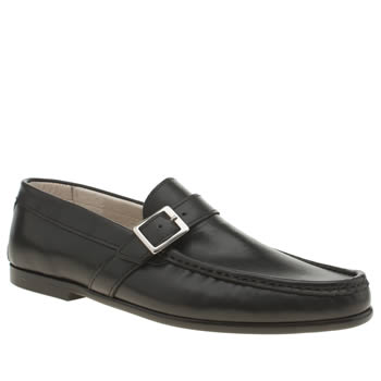 Momentum Black Rinse Strap Loafer Shoes