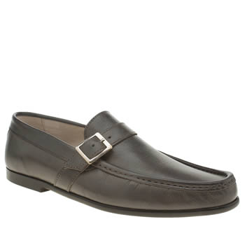 Momentum Grey Rinse Strap Loafer Shoes