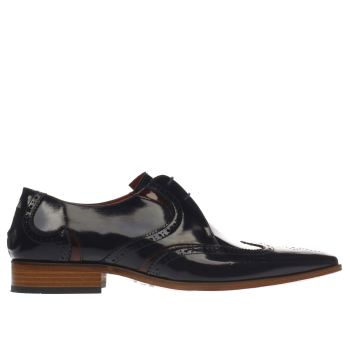 Jeffery West Navy Escobar Wave Brogue Mens Shoes