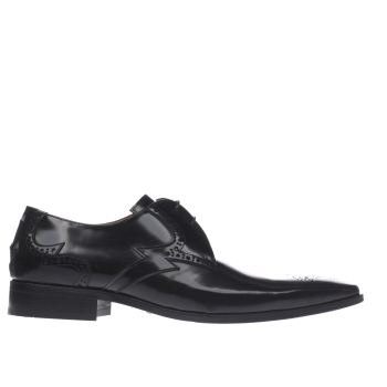 Jeffery West Black Escobar Bolt Gibson Mens Shoes
