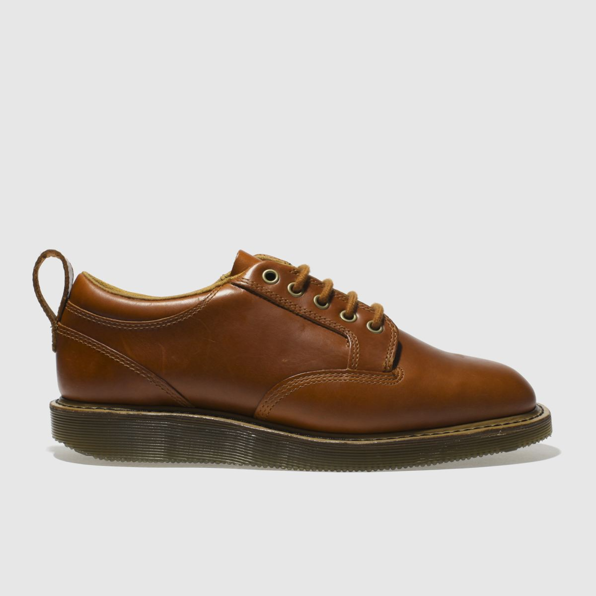 dr martens tan neema 5 eye shoes