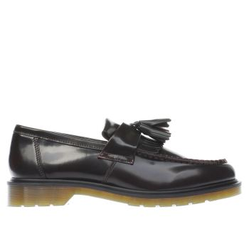 Dr Martens Burgundy Adrian Tassle Mens Shoes