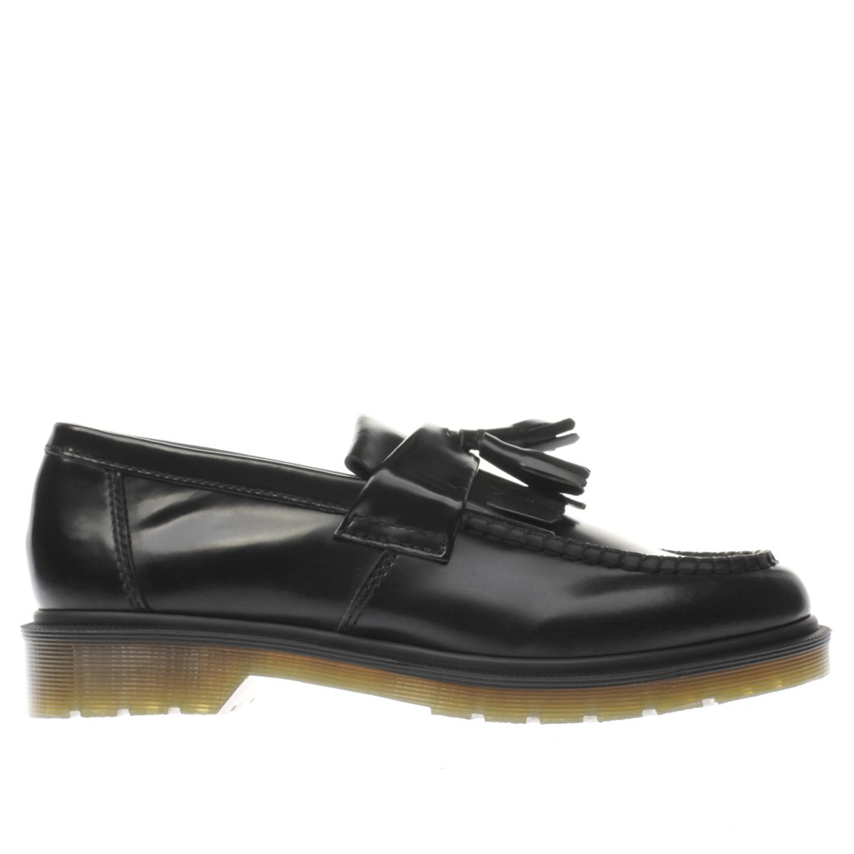 dr martens black adrian tassle shoes