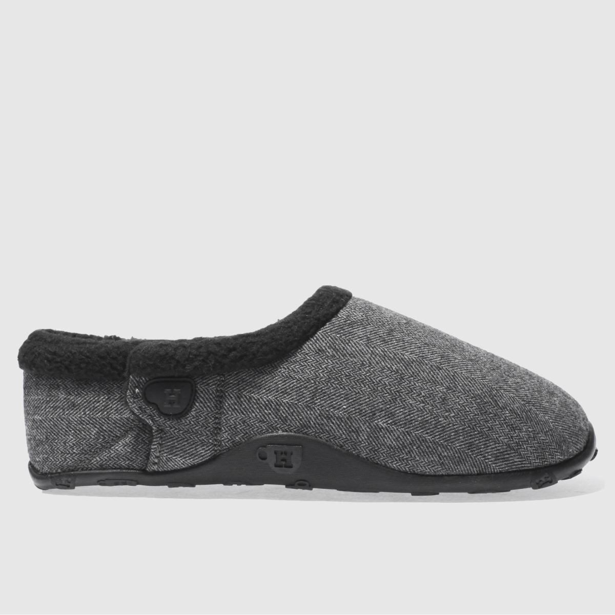 homeys black & grey jack slippers