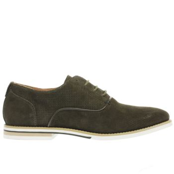 Peter Werth Khaki Nesbit Oxford Perf Mens Shoes
