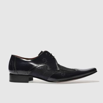 Jeffery West Navy Pino Wing Cap Mens Shoes