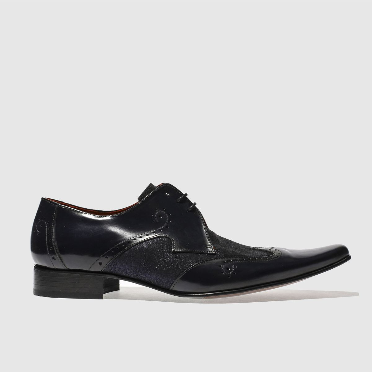jeffery west navy pino wing cap shoes