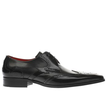 Jeffery West Black Escobar Bolt Wing Mens Shoes