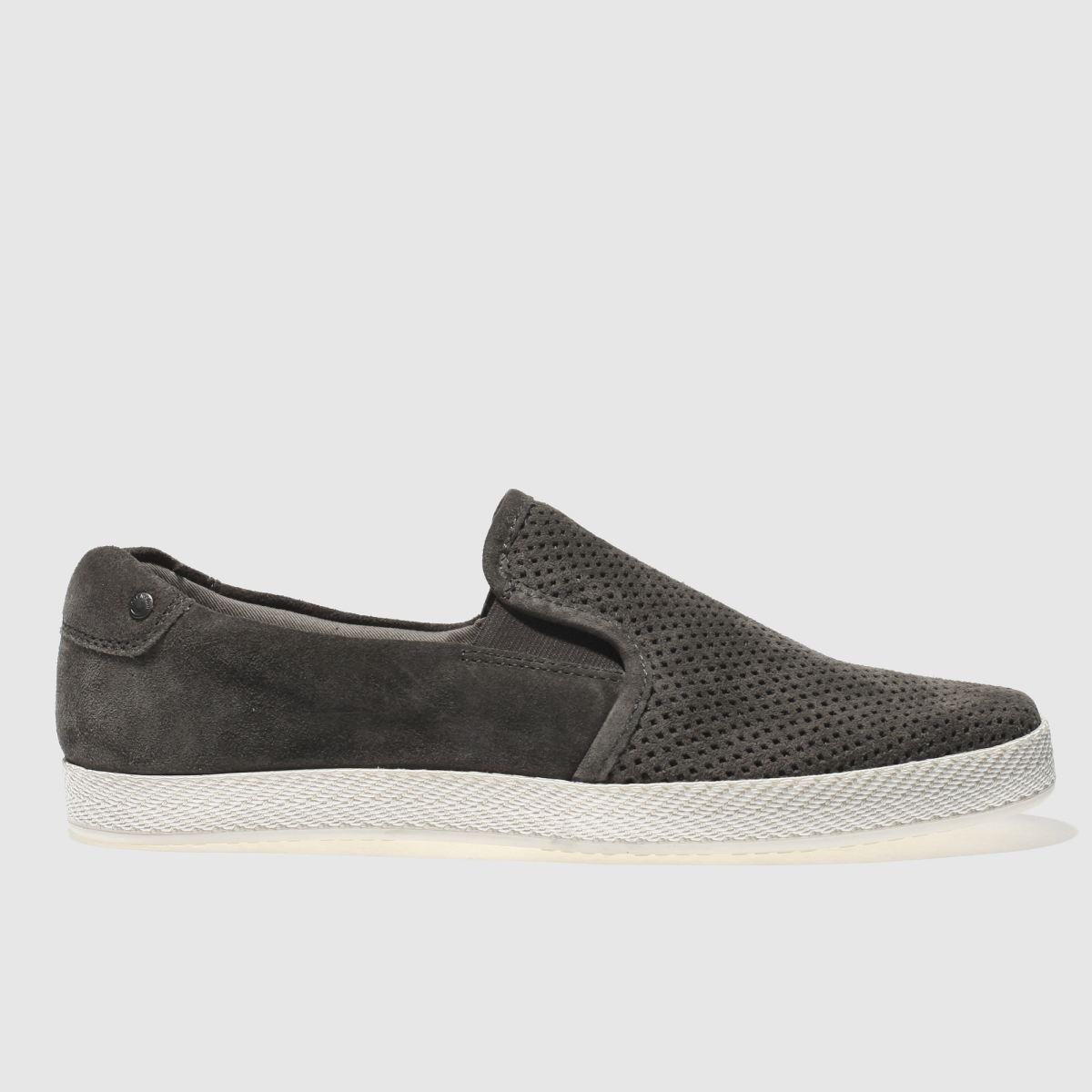 Base London Dark Grey Clipper Shoes