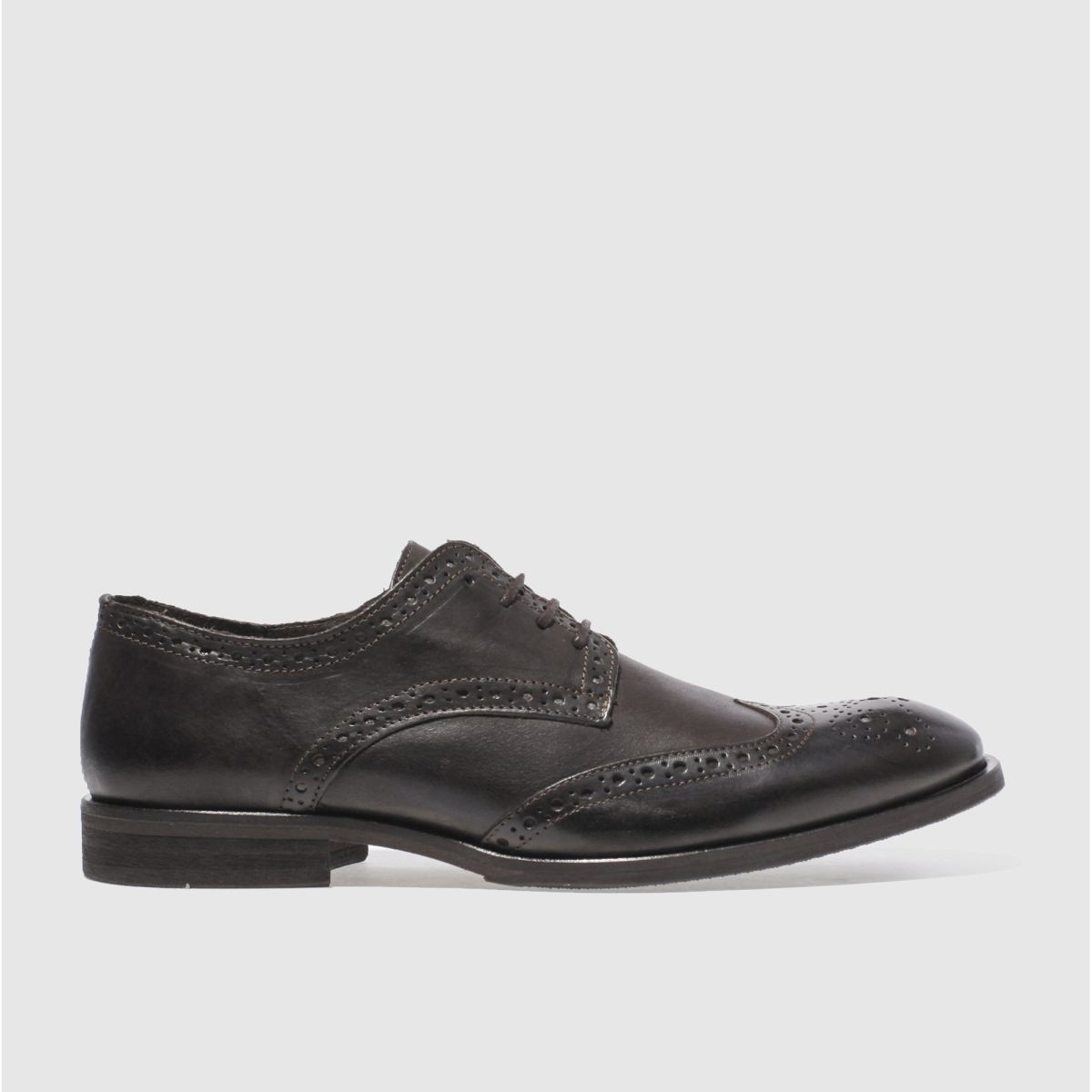 schuh dark brown ramsay brogue shoes