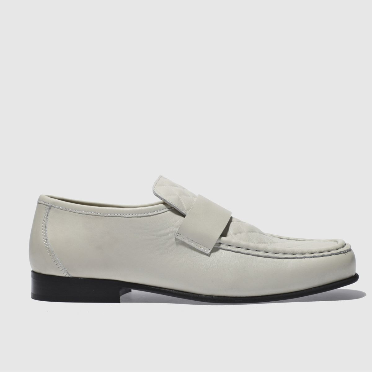 schuh natural argent quilt shoes