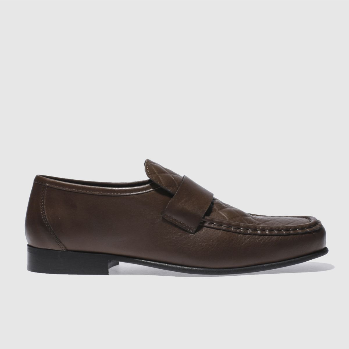 schuh brown argent quilt shoes