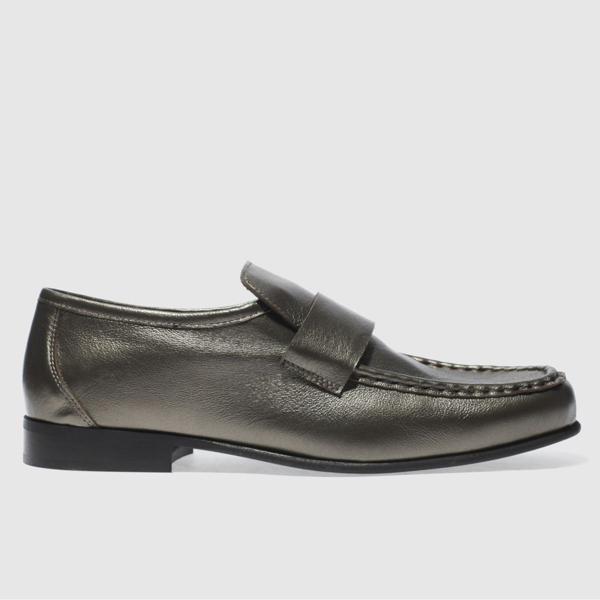schuh taupe argent smooth shoes