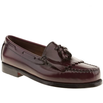 Mens Bass Burgundy Layton Tassel Shoes