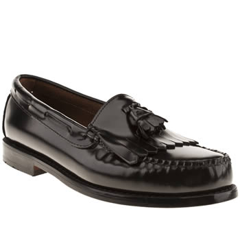 mens bass black layton tassel shoes