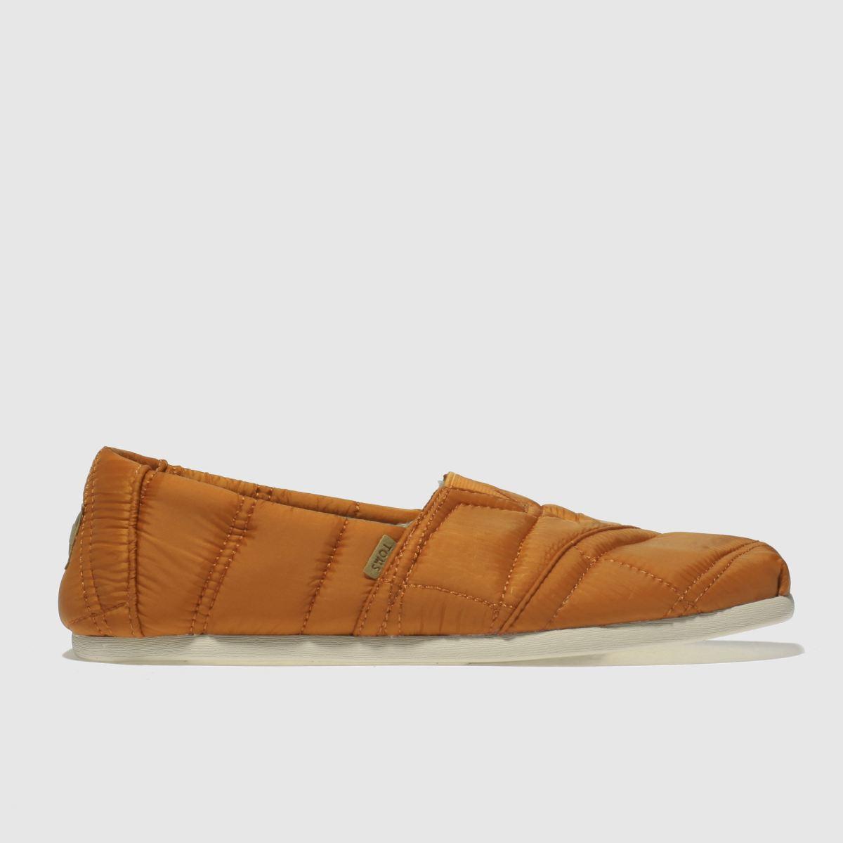 Toms Orange Alpargata Puffa Slippers