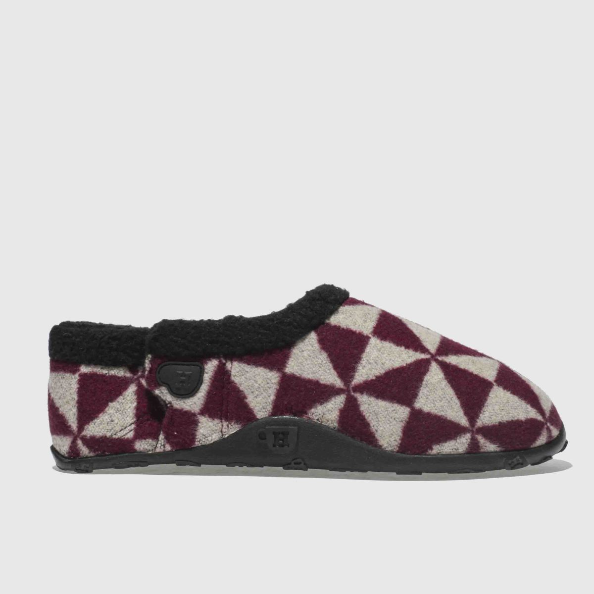 Homeys Burgundy Ronnie Slippers