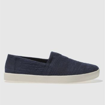 Toms Navy Avalon Slip-on Shoes