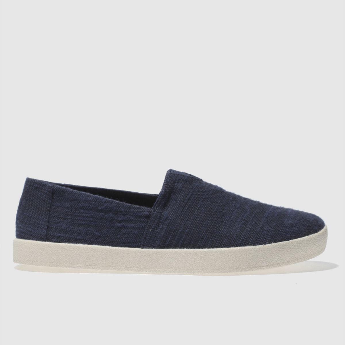 Toms Navy Avalon Slip-on Shoes