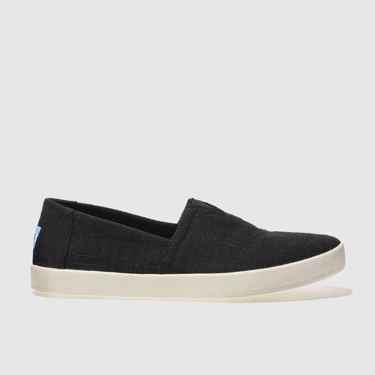 Toms Black Avalon Slip-on Shoes