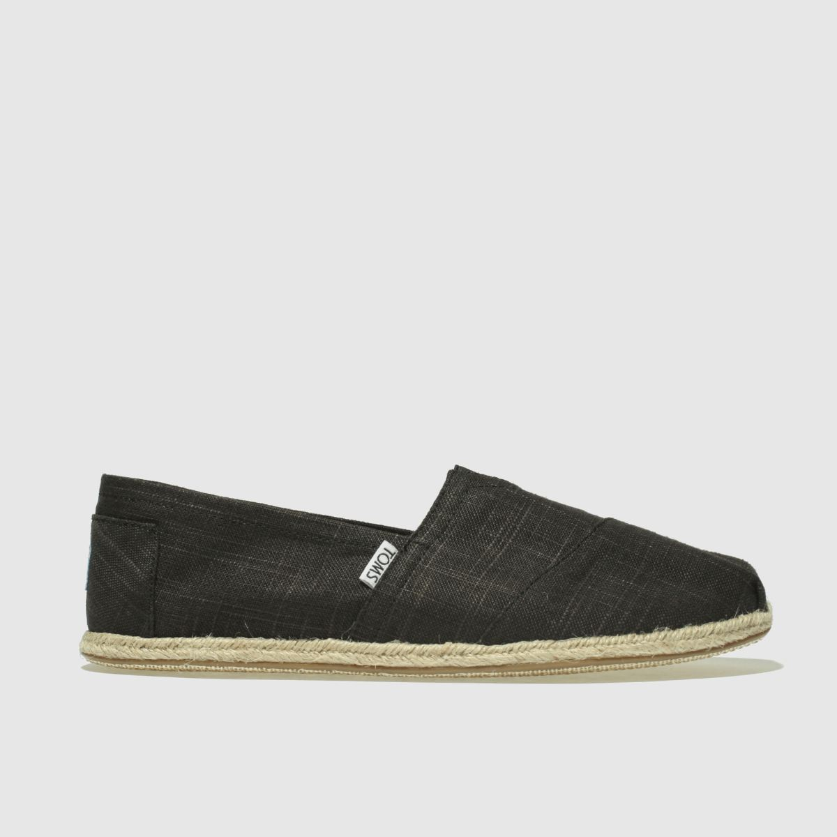 Toms Black Classic Rope Sole Shoes