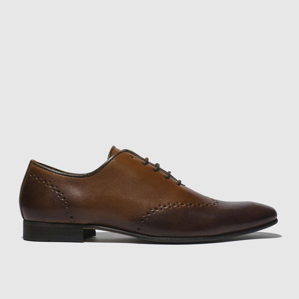 Schuh Tan Winkworth Clean Brogue Shoes