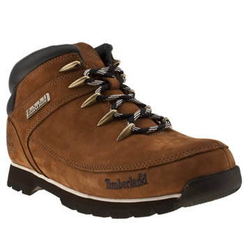 mens timberland brown euro sprint hiker boots