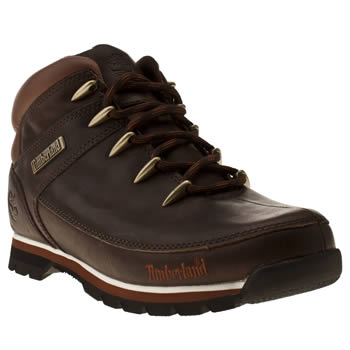 mens timberland dark brown euro sprint hiker boots